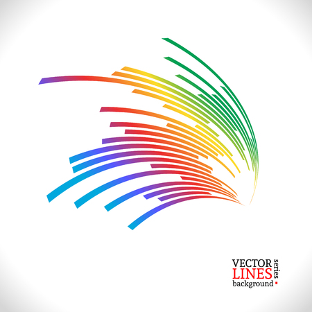 Colorful lines background. Vector illustration for your design.