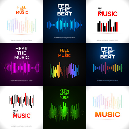 beat: Set of different equalizer icons.