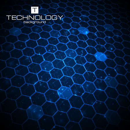 honeycomb: Abstract technology background with honeycomb texture. Vector illustration. Illustration