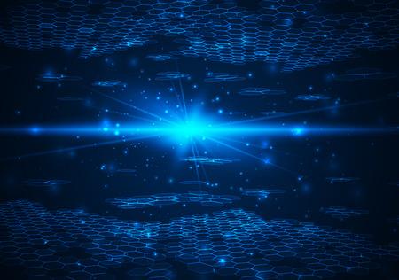 Futuristische digitale Hintergrund mit Platz für Ihren Text. Technologie Illustration für Ihr Unternehmen, Wissenschaft, Technologie Grafik. Vector Design-Element.