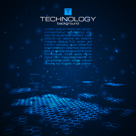 Futuristic digital background with space for your text. Technology illustration for your business,science,technology artwork. Vector design element.