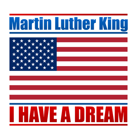 Martin Luther King Day vector design for national holiday. Vector illustration for your artwork. Иллюстрация