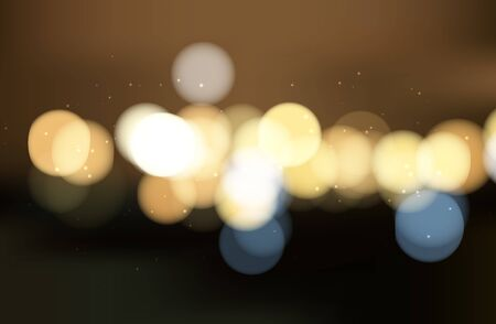Abstract colorful bokeh background. Blurred light. Vector illustration for your artwork.