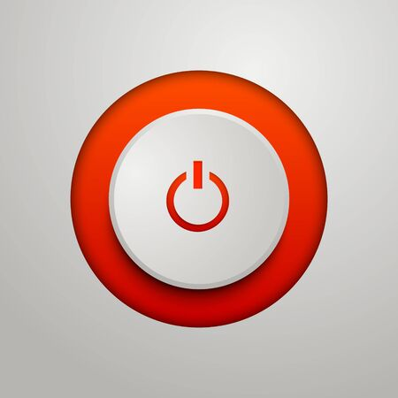 Red power button. Vector illustration for your design.