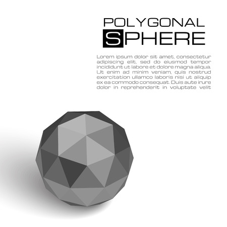 isolated object: 3d textured sphere. Realistic vector illustration for your artwork. Isolated object.