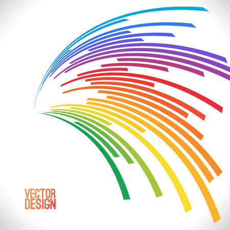 Colorful lines background. Vector illustration for your design. Can be used as logo, icon or brochure template.