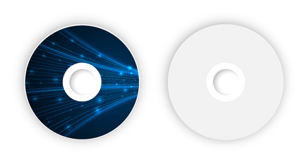 Vector CD template. Illustration for your business artwork.
