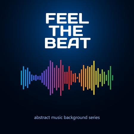 Equaliserpictogram. Kan gebruikt worden als logo voor muziek album, dj set, concert banner. Vector illustratie.