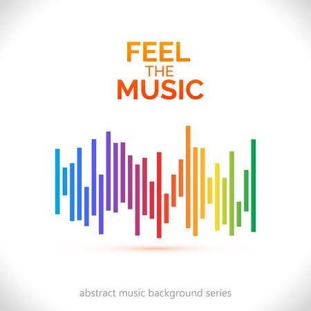 Icono de ecualizador. Puede ser utilizado como logotipo para álbum de música, dj set, bandera concierto. Ilustración del vector.