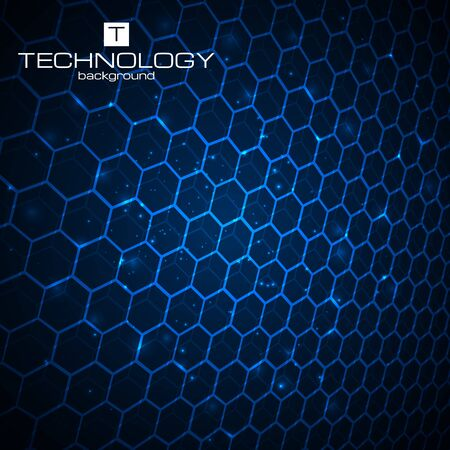 hexa: Abstract technology background with honeycomb texture. Vector illustration. Illustration