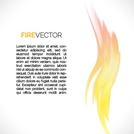 Abstract background with fire elements and space for your text. Vector illustration.