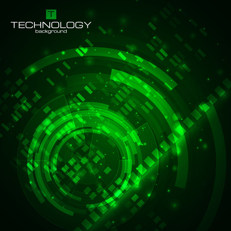 Technology background with HUD elements. Vector illustration for your artwork.