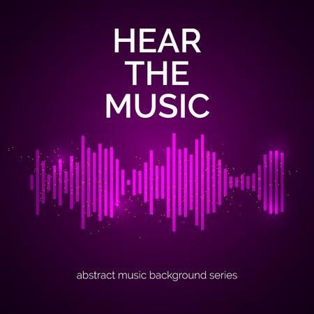 radio: Equalizer icon. Can be used as logo to music album, dj set,concert banner. Vector illustration. Illustration