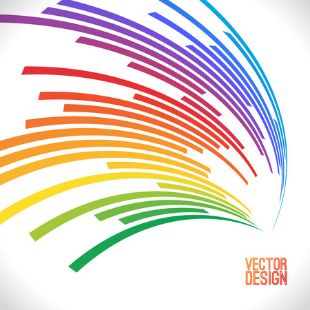 Colorful lines background. illustration for your design. Can be used as icon or brochure template.