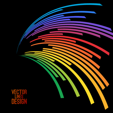 audio: Colorful lines background. illustration for your design. Can be used as icon or brochure template.