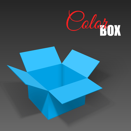 Realistic open box with shadows.