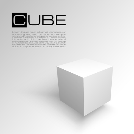3D-kubus op een witte achtergrond. Verzending of transport concept. Witte doos.
