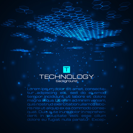 Futuristic digital background with space for your text. Technology illustration for your business,science,technology artwork. Ilustração