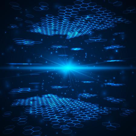 fond numérique futuriste avec un espace pour votre texte. illustration de la technologie pour votre entreprise, la science, la technologie oeuvre.