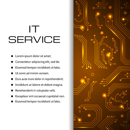IT service banner. Can be used for page website, web design,brochure template, it service price list. Illustration for your business. Illustration
