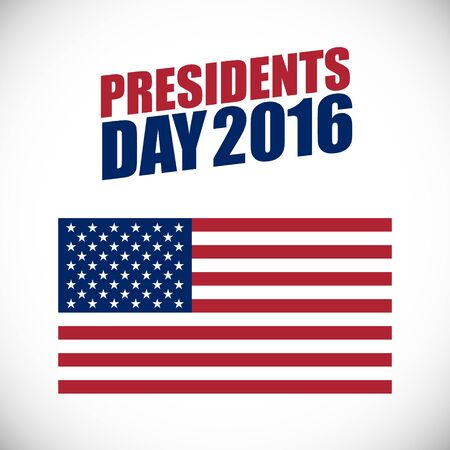 Presidents Day holiday banner with USA flag.