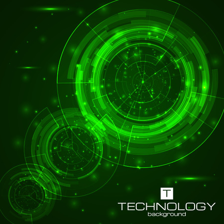 Technology background with HUD elements. Illustration