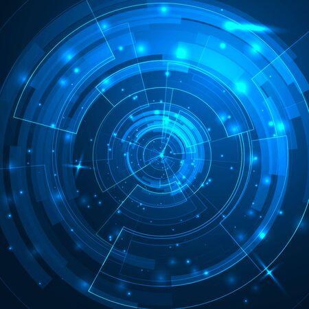 kosmos: Technologie Hintergrund mit HUD-Elemente.