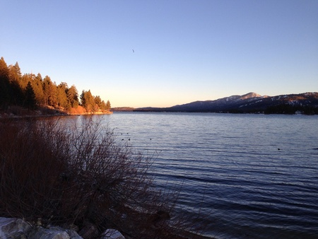 bear lake: Beautiful landscape at big bear lake Stock Photo