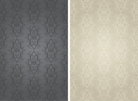 pale: Vector Ornate Wall Paper Background Pattern
