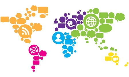 trabajo social: Medios de Comunicaci�n Social Mapa del Mundo
