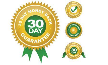 Geld Terug Garantie (30 dagen) Vector Illustratie
