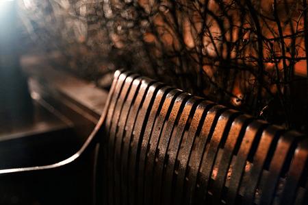street shot: Metal Bench Night