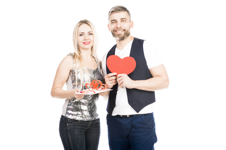 Portrait of young couple ready for Valentines Day