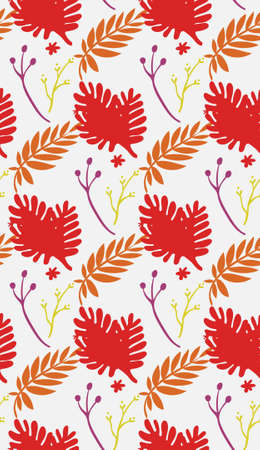 Bright color beautiful background. Tileable images. Summer theme pattern. 矢量图像