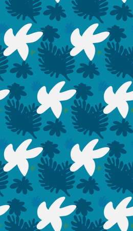 Image without seams. Beautiful pattern on a summer theme. Background image.