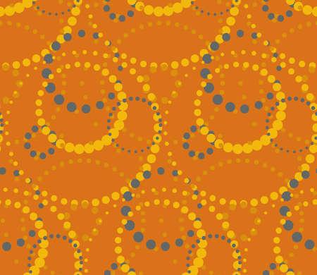 Orange background. Seamless summer pattern.