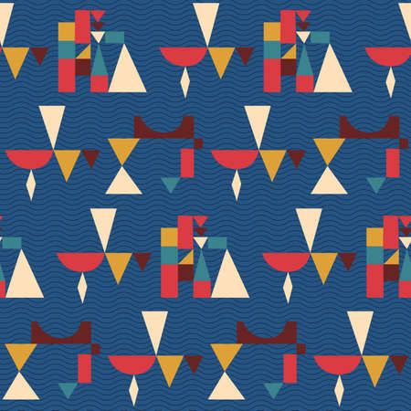 Summer. Colors. Pattern without seams.