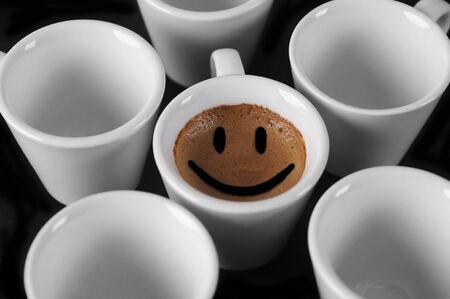 vibrations: Cup of coffee with smile