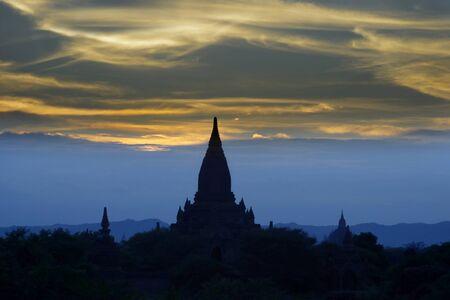 bagan: Sunset in Bagan, Myanmar