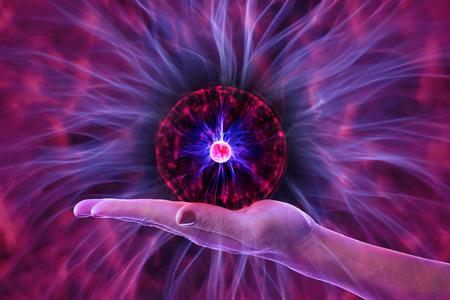 Hand dominates energy Standard-Bild