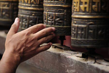 buddhism prayer belief: prayer wheels