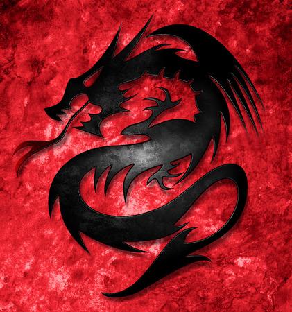 Dragón celta Foto de archivo - 60034956