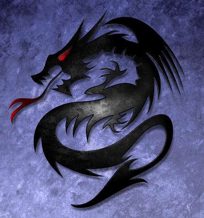 dragones: dragón celta Foto de archivo