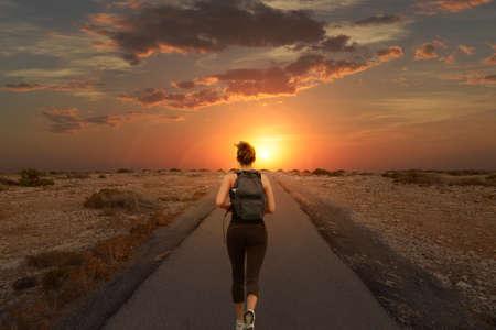 Running at sunset in Formentera