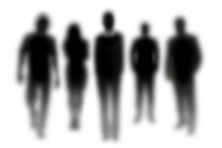 unfocused: Unfocused human silhouettes Stock Photo