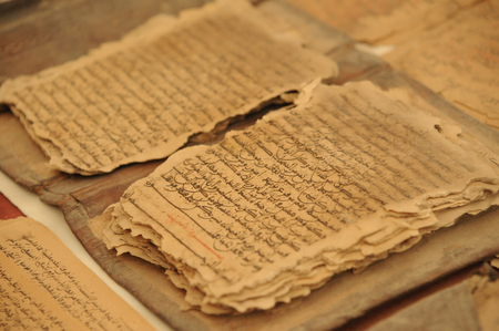 Koran manuscripts in Timbuktu Mosque 스톡 콘텐츠