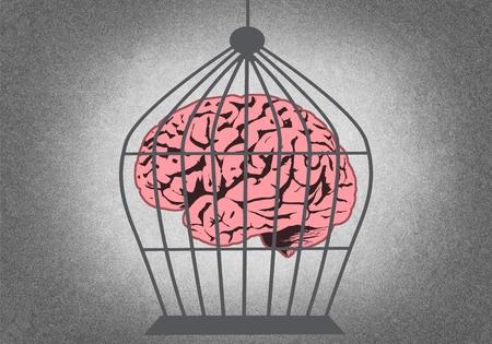 Caged brain Stok Fotoğraf - 81267169