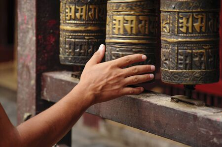 Buddhist hand in temple