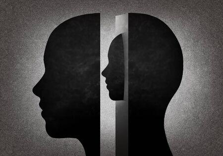 illustration Head inside another 版權商用圖片