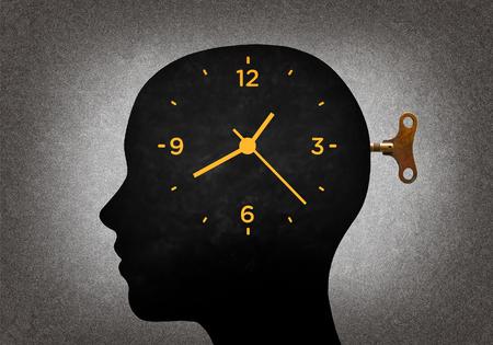 Clock in the head